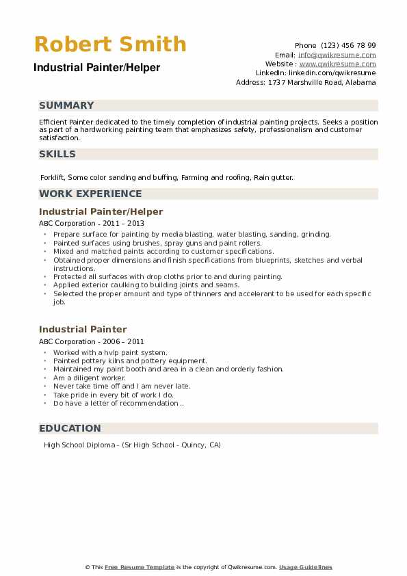 industrial painter resume samples qwikresume blaster pdf infrastructure analyst sample Resume Industrial Painter Blaster Resume