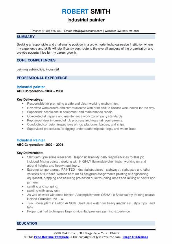 industrial painter resume samples qwikresume blaster pdf should include photo on referral Resume Industrial Painter Blaster Resume
