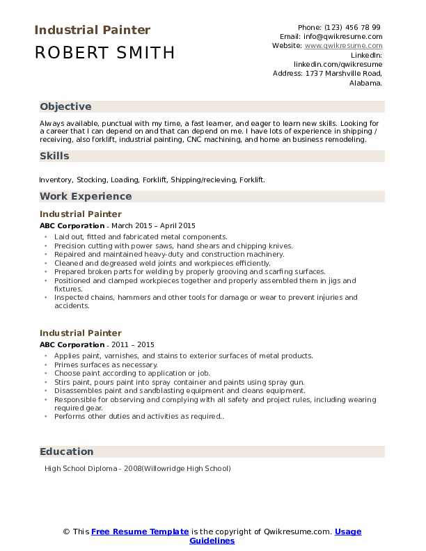 industrial painter resume samples qwikresume blaster pdf student midwife athlete loan Resume Industrial Painter Blaster Resume
