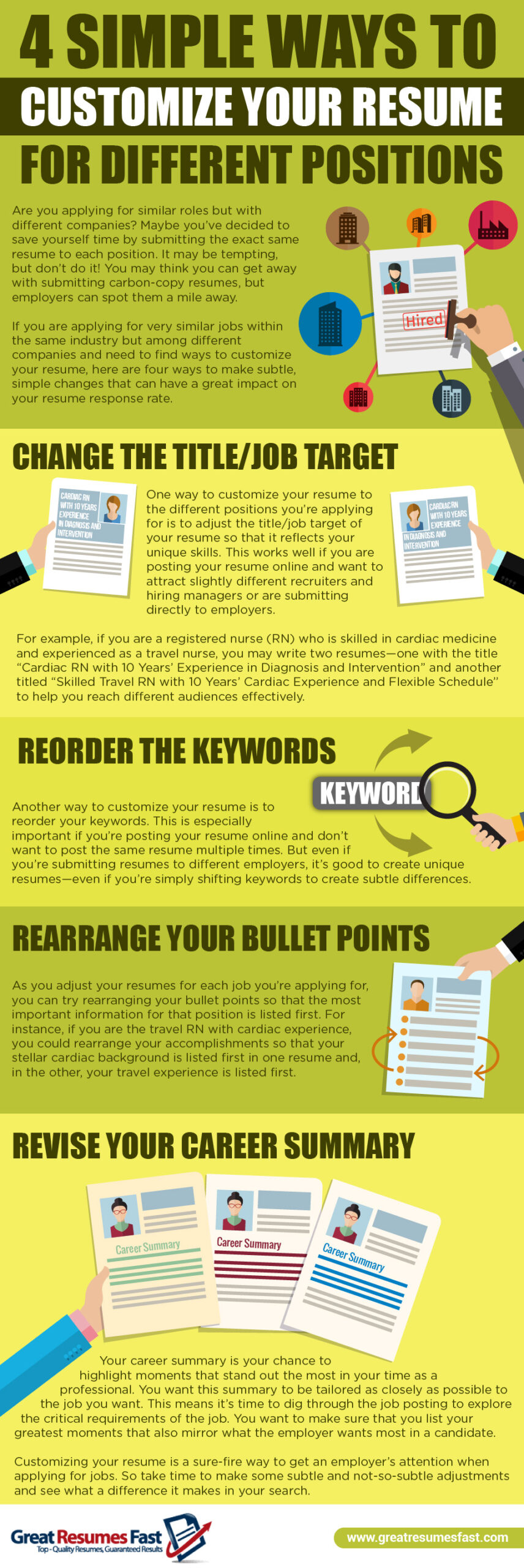 infographic simple ways to customize your for different positions jessica hernandez Resume Customize Resume For Each Position