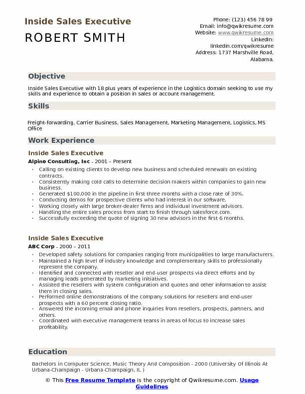 inside executive resume samples qwikresume template pdf cvr roofing foreman office depot Resume Inside Sales Resume Template