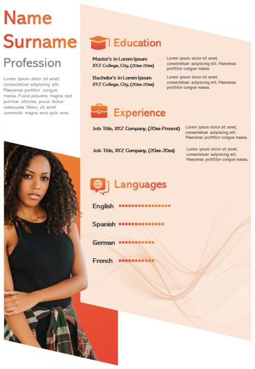 interactive resume visual template for self introduction powerpoint slides diagrams Resume Interactive Resume Template