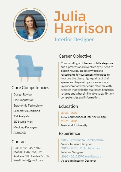 interior design resume builder outstanding personalized resumes for free fotor template Resume Interior Design Resume Template Free