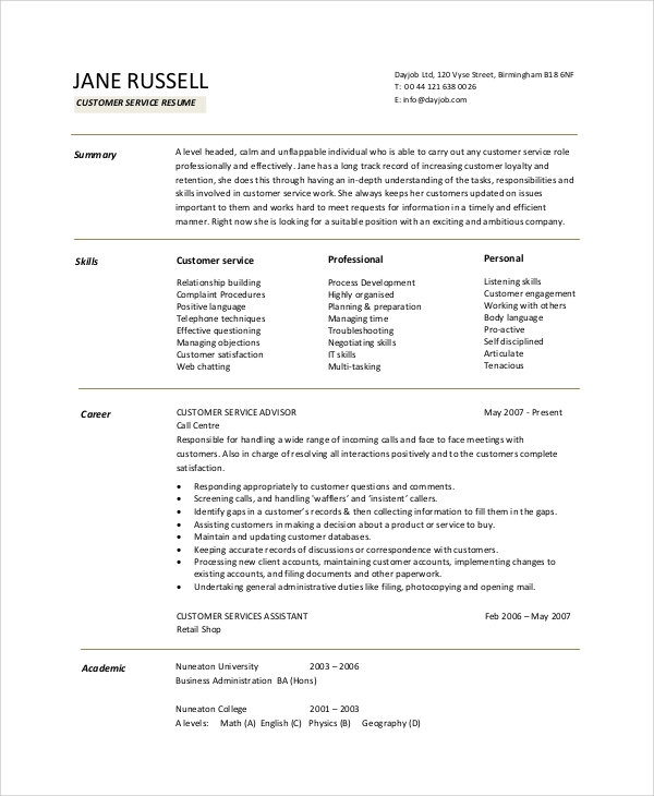 interior design resume objective examples objectives call center sample customer service Resume Call Center Resume Objective Examples