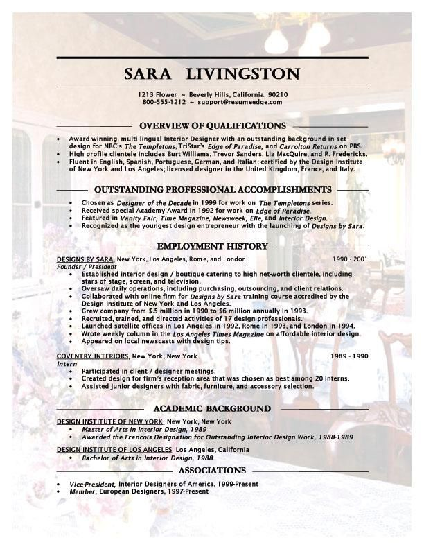 interior design resume template graphic free templates for experienced professional Resume Free Interior Design Resume Templates