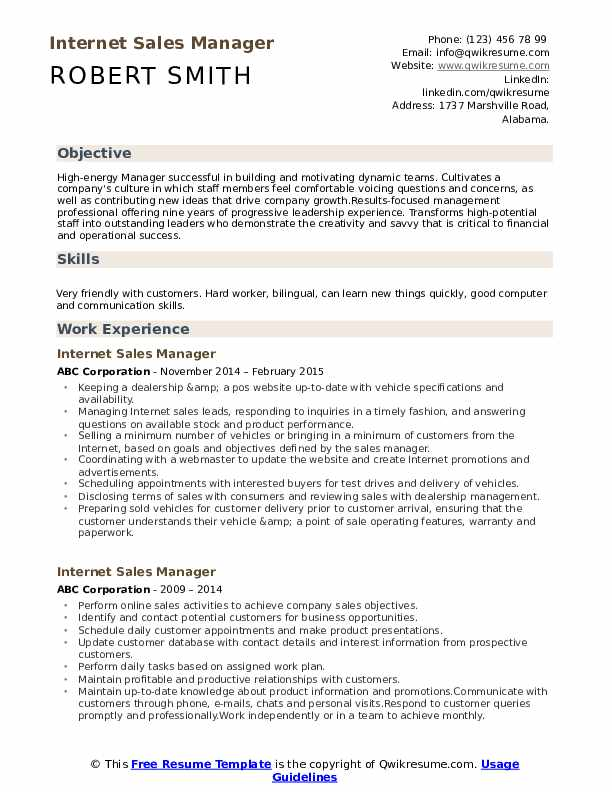 internet manager resume samples qwikresume experience pdf example of professional format Resume Internet Experience Resume