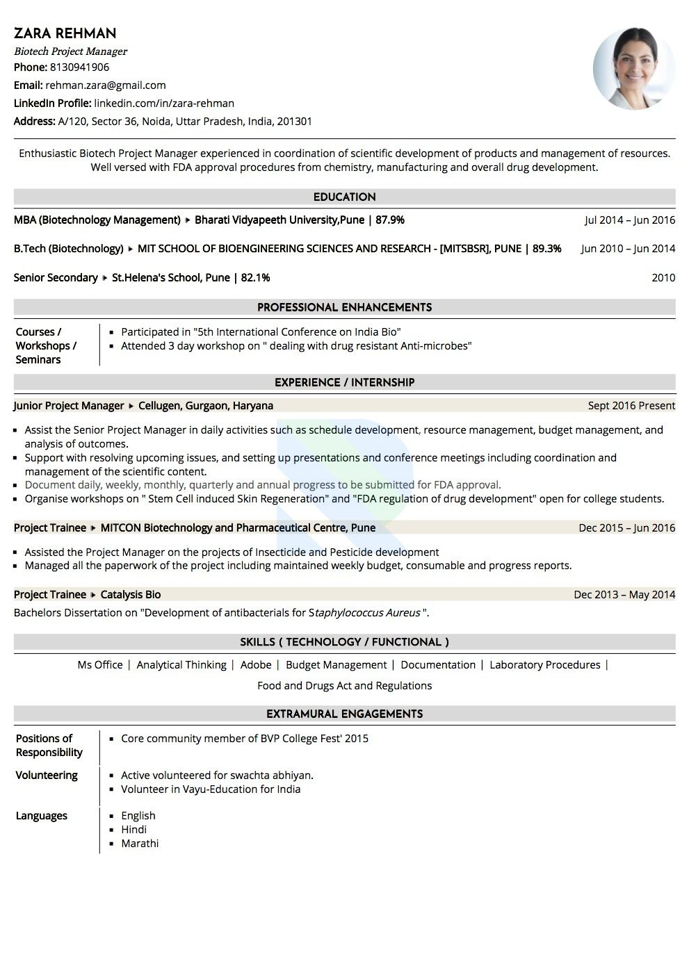is ats and to make your resume friendly making sample biotechnology manager functional Resume Making Your Resume Ats Friendly