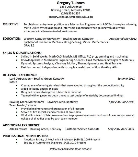 is the best resume title for mechanical engineer fresher quora engineering templates free Resume Mechanical Engineering Resume Objective