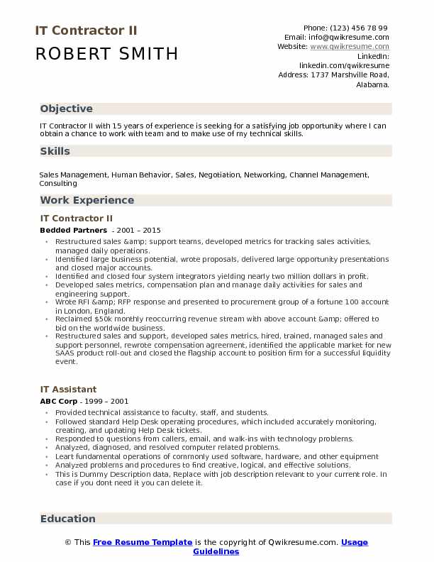 it contractor resume samples qwikresume subcontractor job description pdf military Resume Subcontractor Job Description Resume