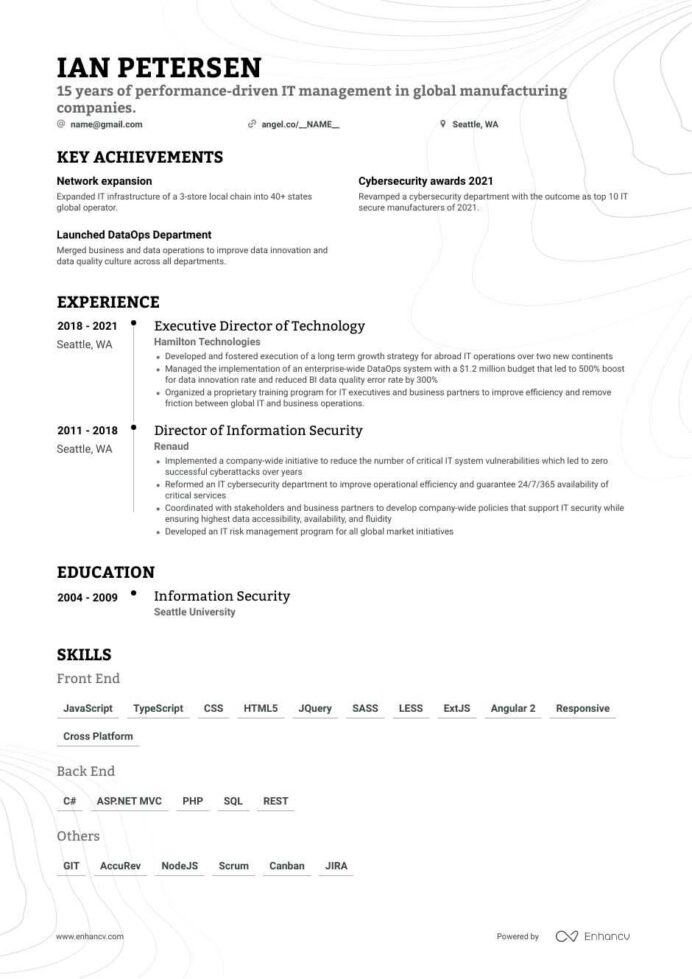 it director resume examples do and don ts for enhancv position generated nurse Resume Resume For Director Position