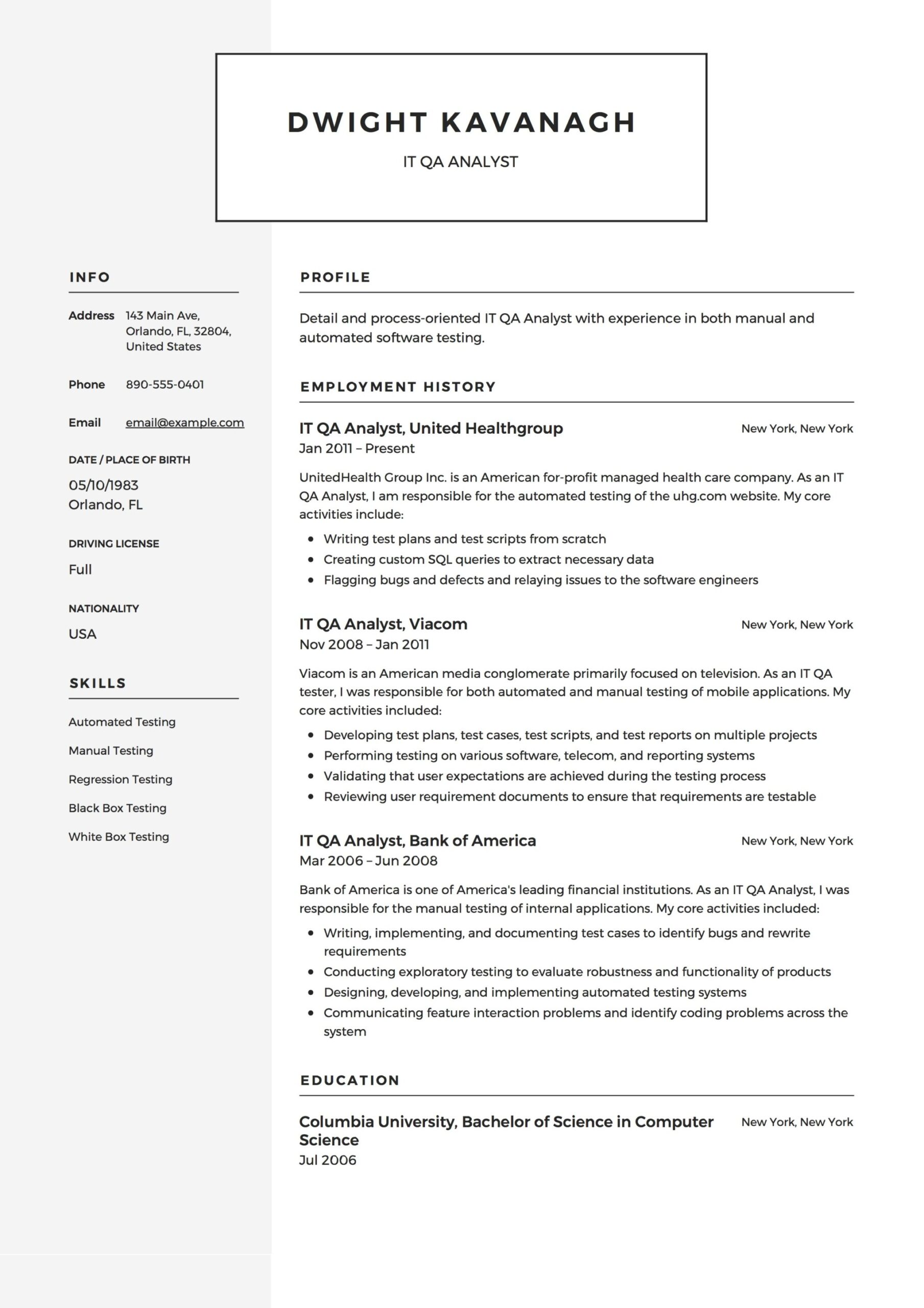 it qa analyst resume guide templates pdf quality assurance example nurse practitioner Resume Quality Assurance Analyst Resume
