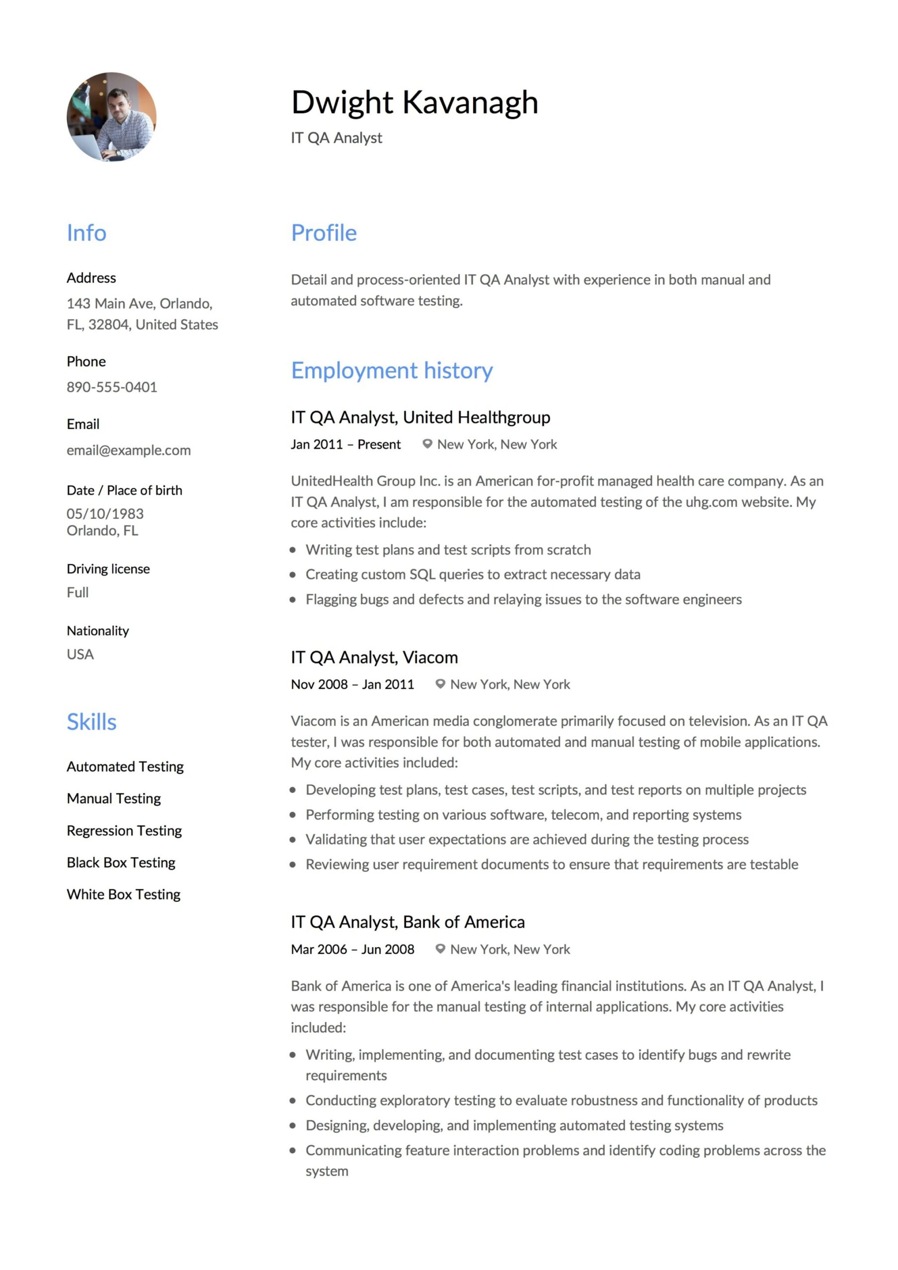 it qa analyst resume guide templates pdf quality assurance sample awesome samples massage Resume Quality Assurance Analyst Resume