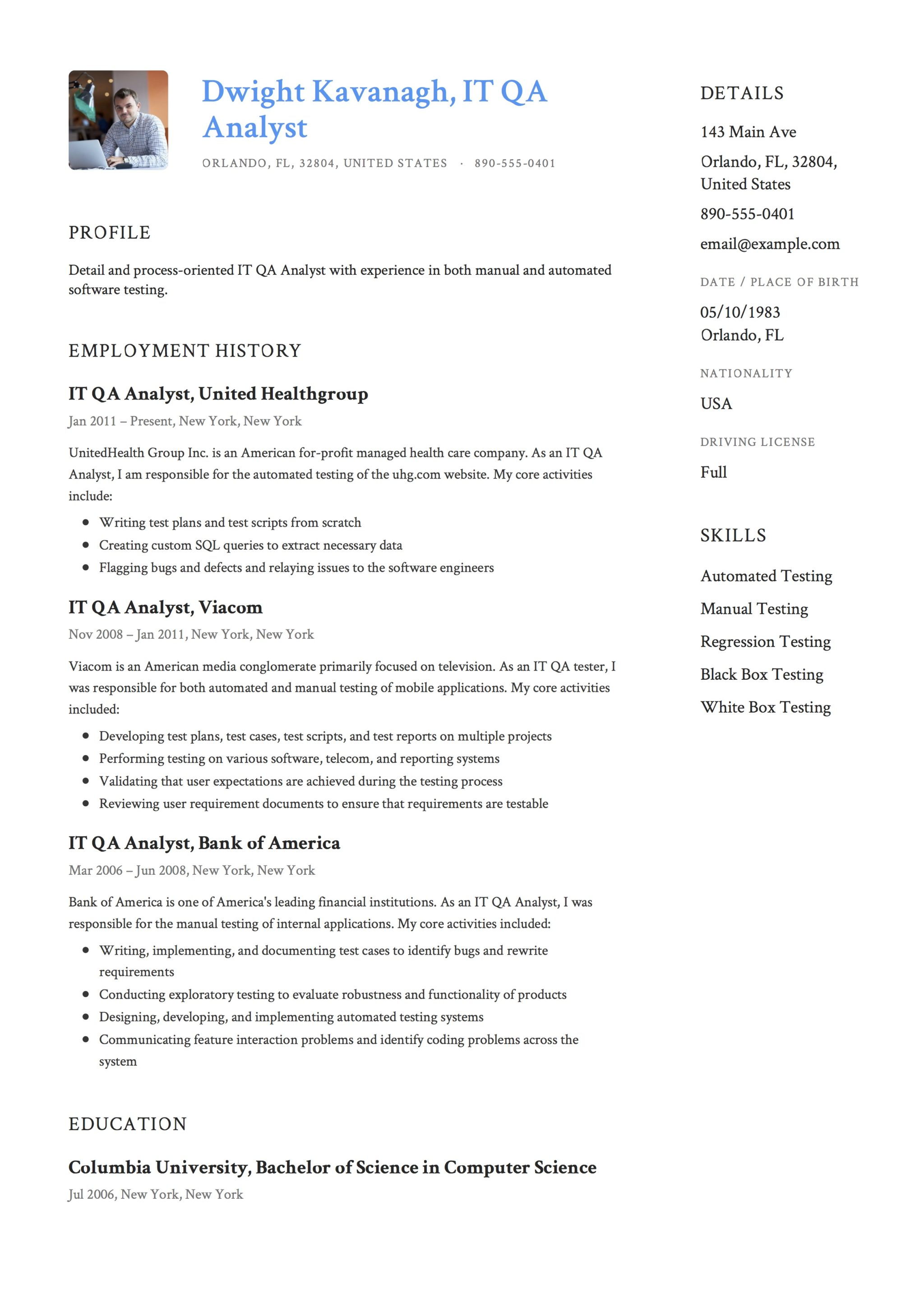 it qa analyst resume guide templates pdf software testing samples for years experience Resume Software Testing Resume Samples For 5 Years Experience