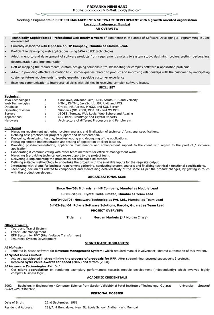 it resume format samples for cv naukri experience with software on level v1 free Resume Experience With Software On Resume