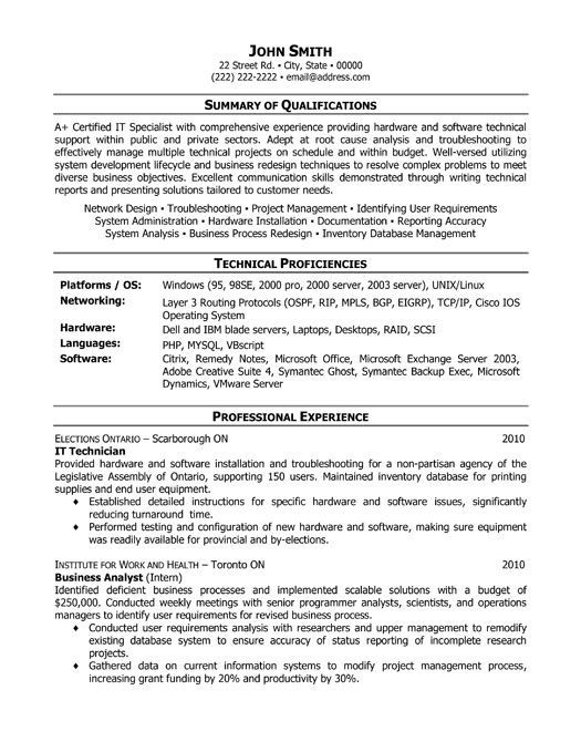 it technician resume template want professional samples examples functional configuration Resume Configuration Management Resume Examples