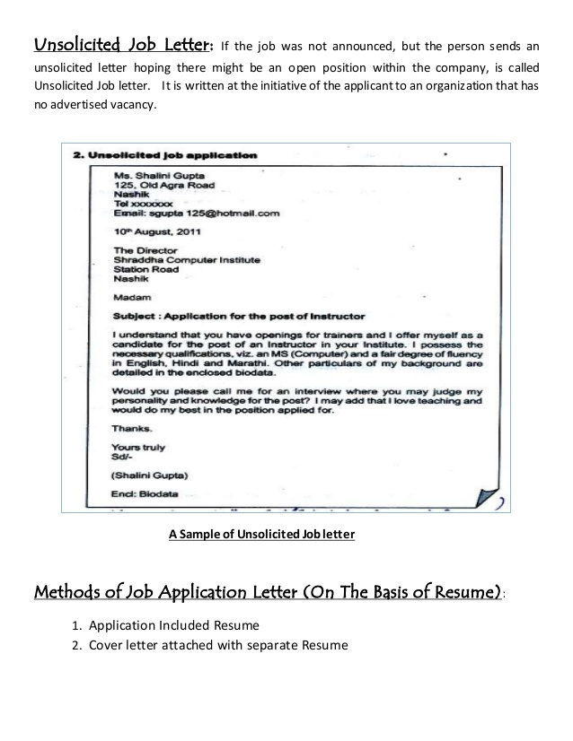 job letter resume writing solicitedn sample is example definition debbycarreau for Resume Resume Writing For Job Application