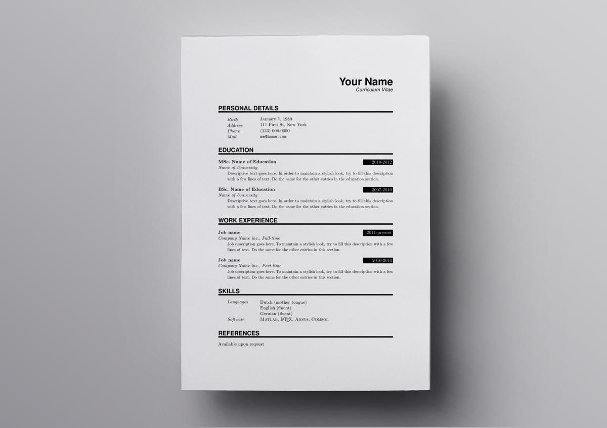 latex resume templates cv computer science template modernize your get noticed hired Resume Computer Science Latex Resume Template