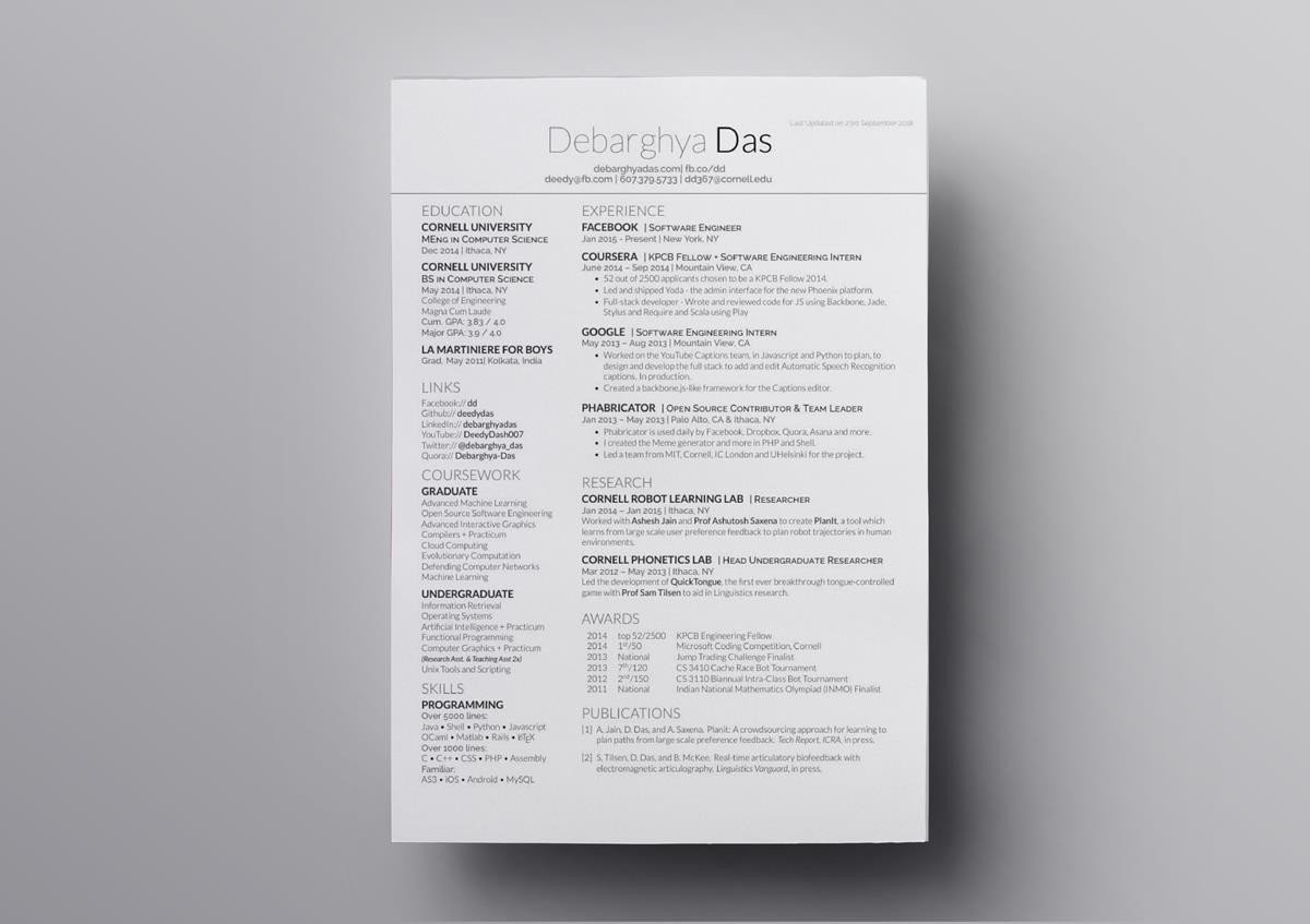 latex resume templates cv computer science template new cpa can you make on linkedin Resume Computer Science Latex Resume Template