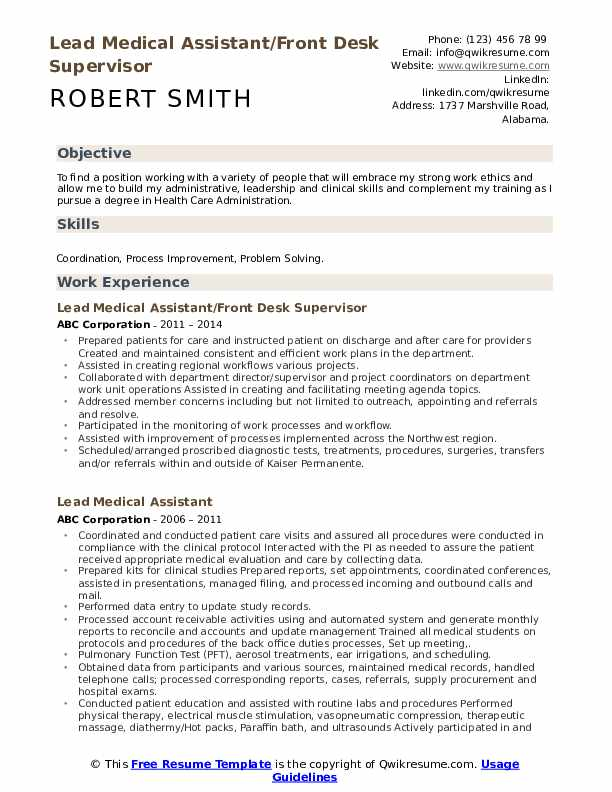 lead medical assistant resume samples qwikresume summary pdf sample for food service Resume Medical Assistant Resume Summary