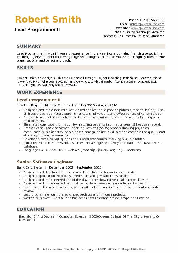 lead programmer resume samples qwikresume summary pdf insurance agent examples security Resume Programmer Resume Summary