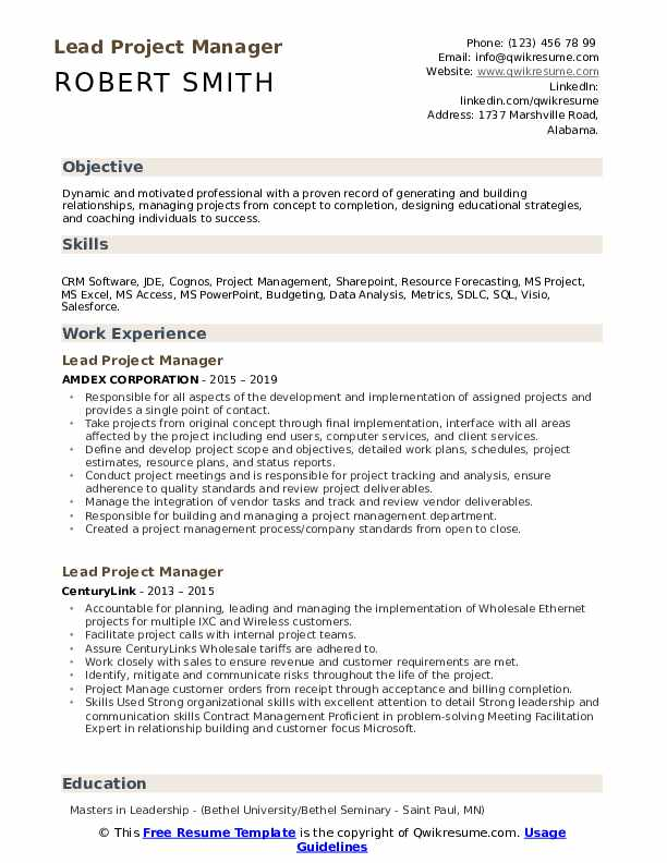 lead project manager resume samples qwikresume salesforce pdf ecommerce category toddler Resume Salesforce Project Manager Resume