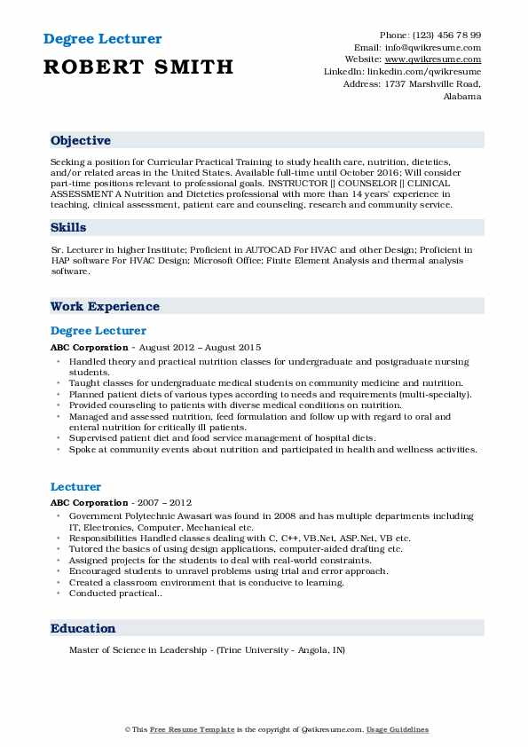 lecturer resume samples qwikresume responsibilities pdf headline for civil engineer Resume Lecturer Responsibilities Resume