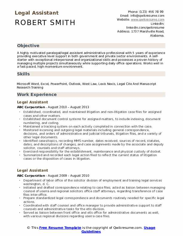 legal assistant resume samples qwikresume sample pdf police officer experience paper Resume Legal Assistant Resume Sample
