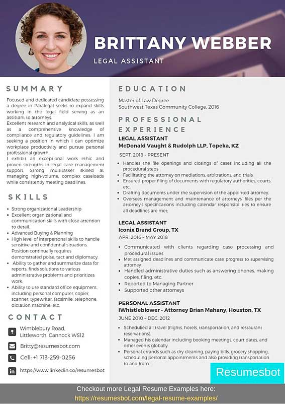 legal assistant resume samples templates pdf resumes bot sample example dos and don ts Resume Legal Assistant Resume Sample