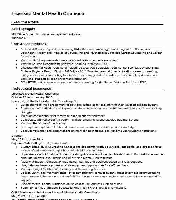 licensed mental health counselor picshealth therapist resume retail manager summary Resume Mental Health Therapist Resume