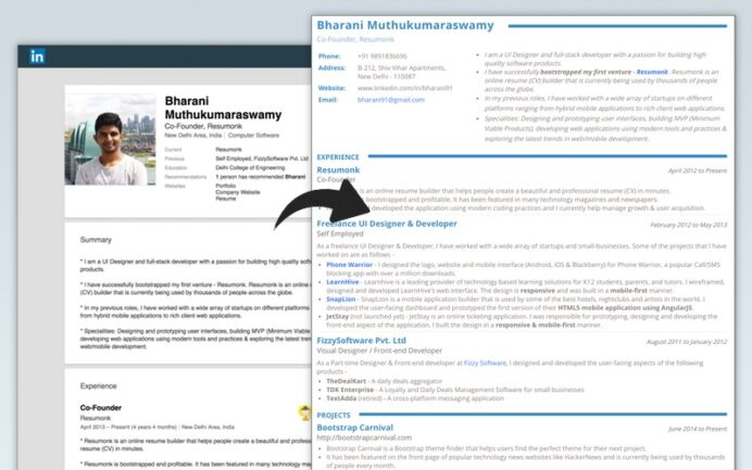 linkedin to resume converter create pdf quickly builder tool comparision coaching Resume Linkedin Resume Builder Tool
