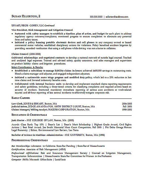 litigation attorney resume examples skills sample experience secretary new registered Resume Litigation Experience Resume