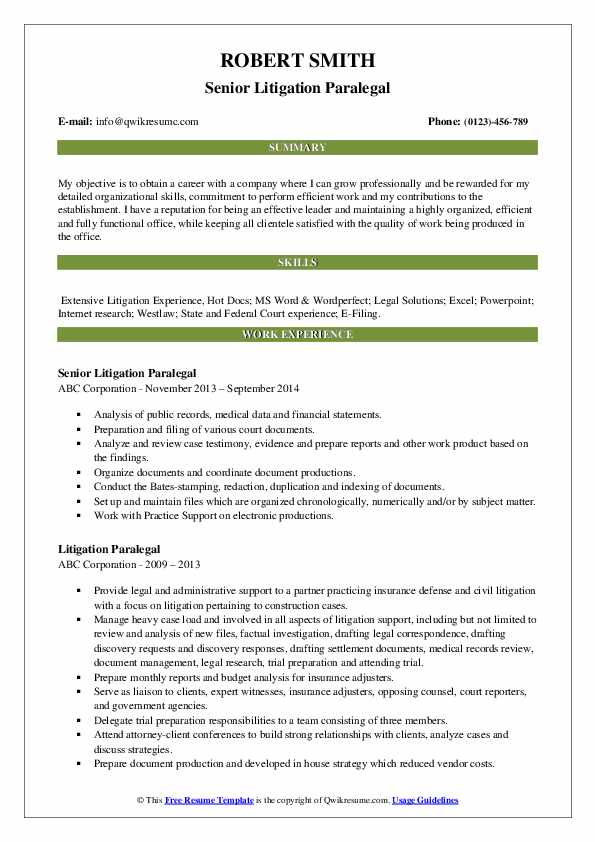 litigation paralegal resume samples qwikresume experience pdf reason for leaving job on Resume Litigation Experience Resume