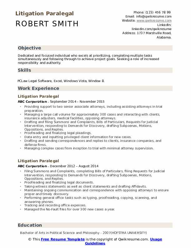 litigation paralegal resume samples qwikresume experience pdf vet assistant example Resume Litigation Experience Resume