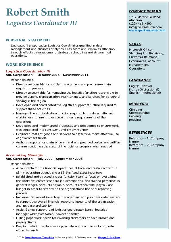 logistics coordinator resume samples qwikresume objective pdf office assistant on ps4 Resume Logistics Coordinator Resume Objective