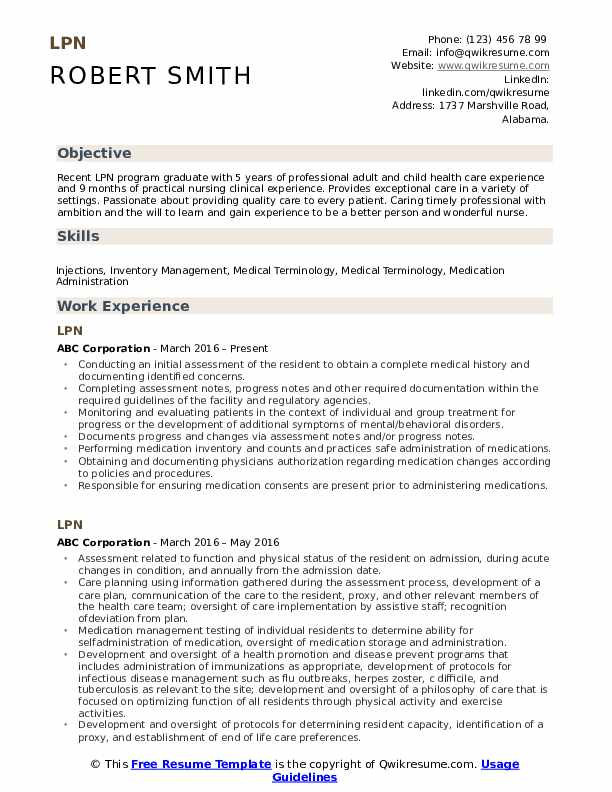 lpn resume samples qwikresume nursing examples pdf retail manager mechanic template latex Resume Lpn Nursing Resume Examples