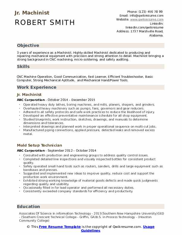machinist resume samples qwikresume cnc template pdf professional nanny can you make on Resume Cnc Machinist Resume Template