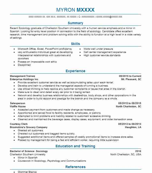 management trainee resume example resumes livecareer format for information technology Resume Resume Format For Management Trainee