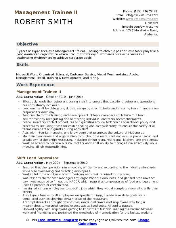 management trainee resume samples qwikresume format for pdf truck driver template Resume Resume Format For Management Trainee
