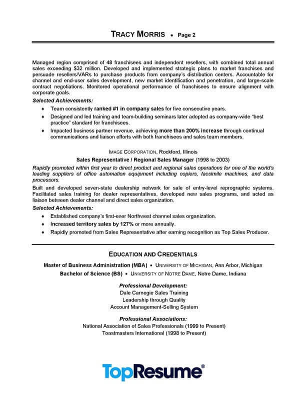 manager resume sample professional examples topresume management page2 personal banker Resume Sales Manager Resume Examples