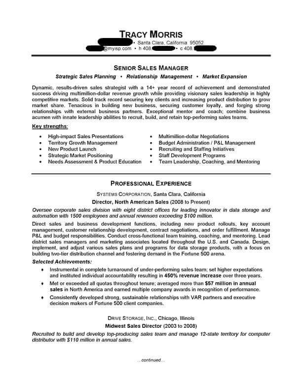 manager resume sample professional examples topresume writing for position management Resume Writing A Resume For A Sales Position
