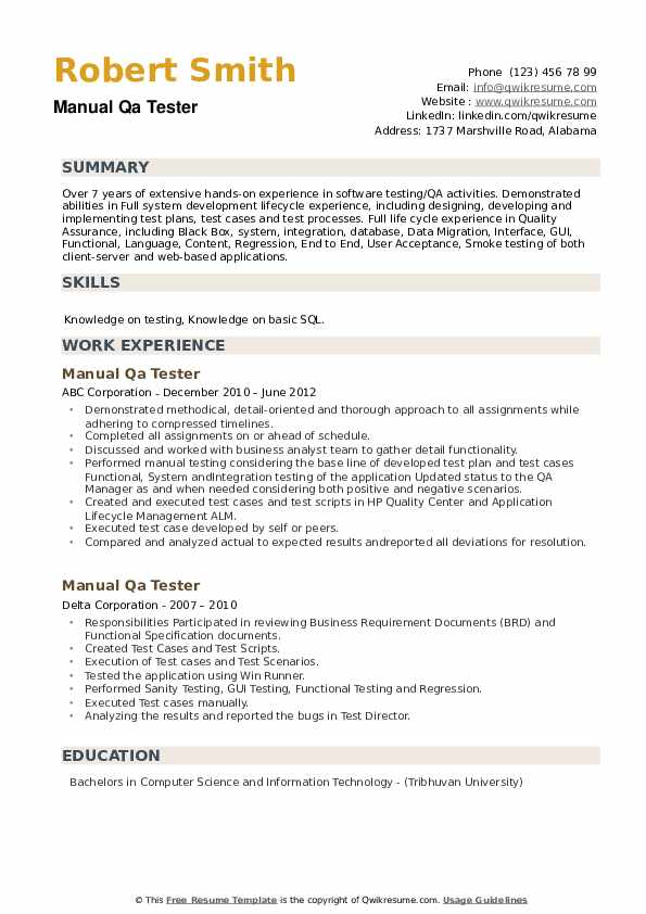 manual qa tester resume samples qwikresume software testing for years experience pdf Resume Software Testing Resume Samples For 5 Years Experience