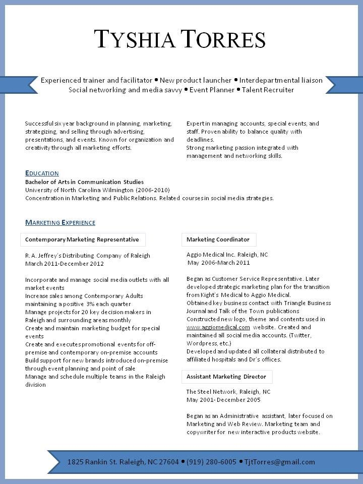marketing resume visual presentation of experience in the area looking for project Resume Paper Publications And Presentations Resume