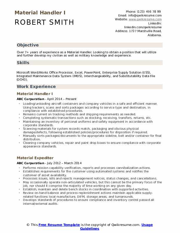 material handler resume samples qwikresume warehouse pdf reddit writing raw reviews for Resume Warehouse Material Handler Resume