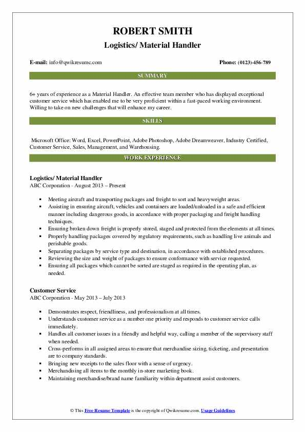 material handler resume samples qwikresume warehouse pdf registered dietitian example Resume Warehouse Material Handler Resume