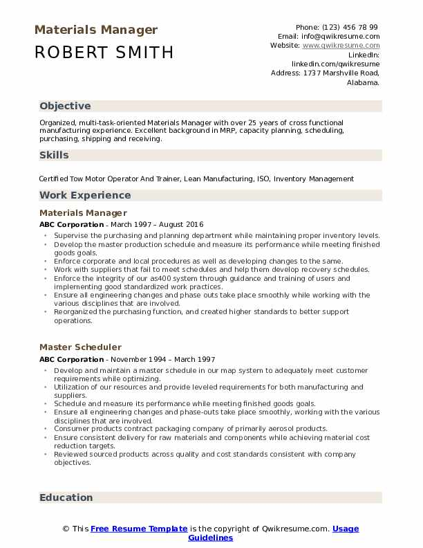 materials manager resume samples qwikresume pdf construction office custodian best entry Resume Materials Manager Resume