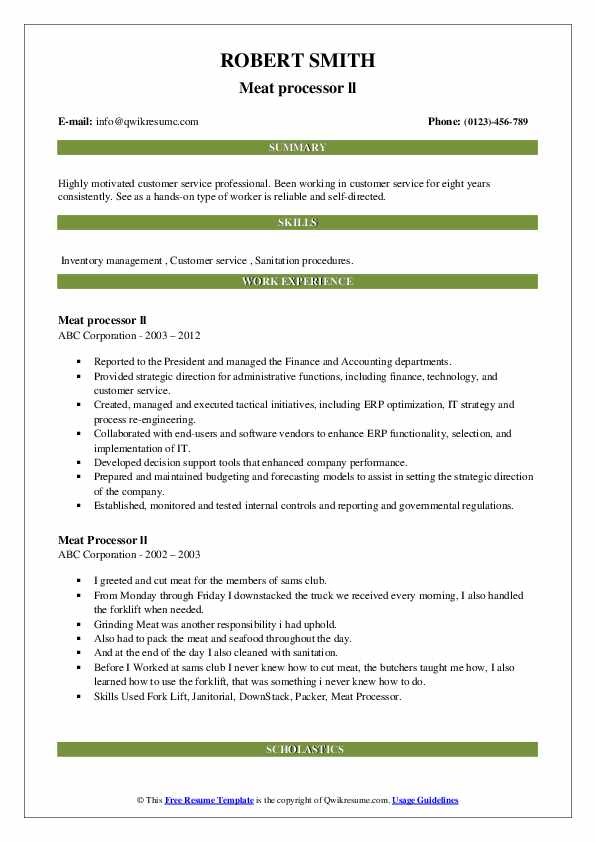 meat processor resume samples qwikresume process worker pdf free template with headshot Resume Meat Process Worker Resume