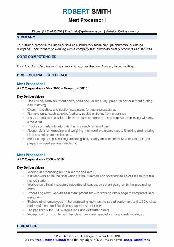 meat processor resume samples qwikresume process worker pdf generator programmer examples Resume Meat Process Worker Resume