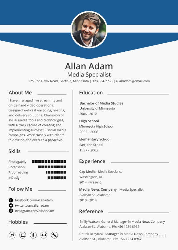 media resume template free samples examples format premium templates for job podcast Resume Resume For Media Job