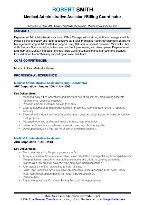 medical administrative assistant resume samples qwikresume office skills pdf livre Resume Medical Office Assistant Skills Resume