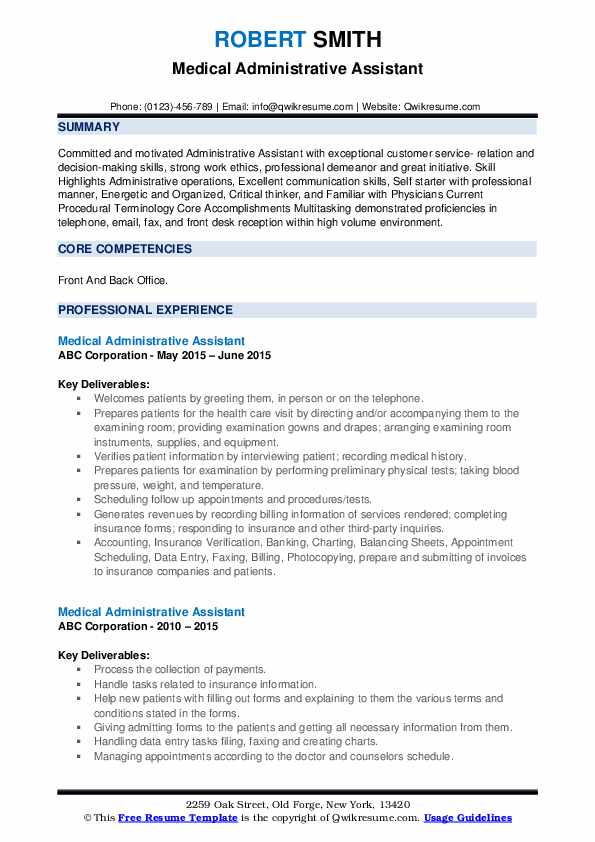 medical administrative assistant resume samples qwikresume office skills pdf word Resume Medical Office Assistant Skills Resume